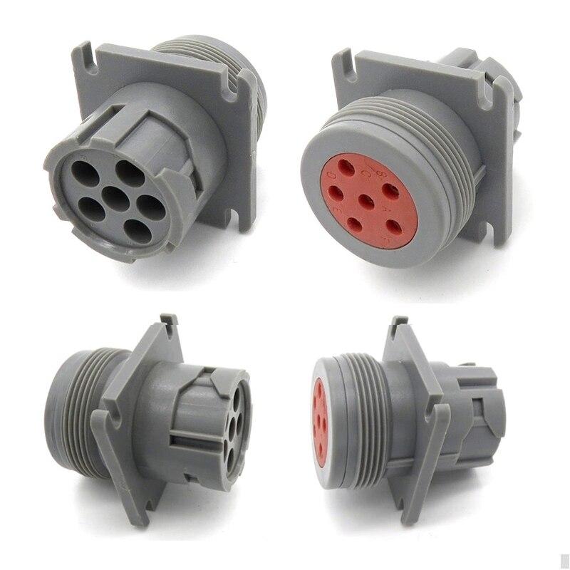 цена на 1pcs Deutsch Connector J1708 6pin Female And Male Plug