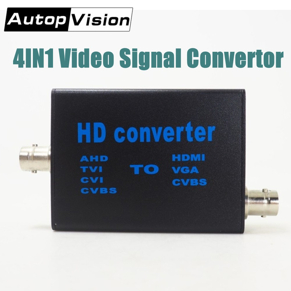 DHL Free 10ps/lot 4IN1 High Definition Video Signal Convertor AHD/TVI/CVI/CVBS Signal To HDMI/VGA/CVBS Signal Convertor AHD41