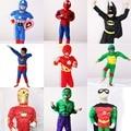 Boys Muscle Super Hero Captain America Costume SpiderMan Batman Iron Man Hulk Avengers Costumes Cosplay for Kids Children Boy