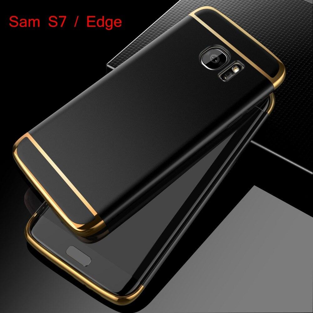 Для Samsung Galaxy S7 Edge Case Мода 3in1 Жесткий ПК Ультра Тонкий Обложка для Apple iPhone 6 6 S 7 Плюс 5 5S SE Роскошные Телефон Случаях