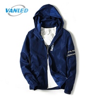 2017 Spring New Jacket Men Fashion Outerwear Windbreaker Men S Thin Jackets Hooded Sporting Coat Plus