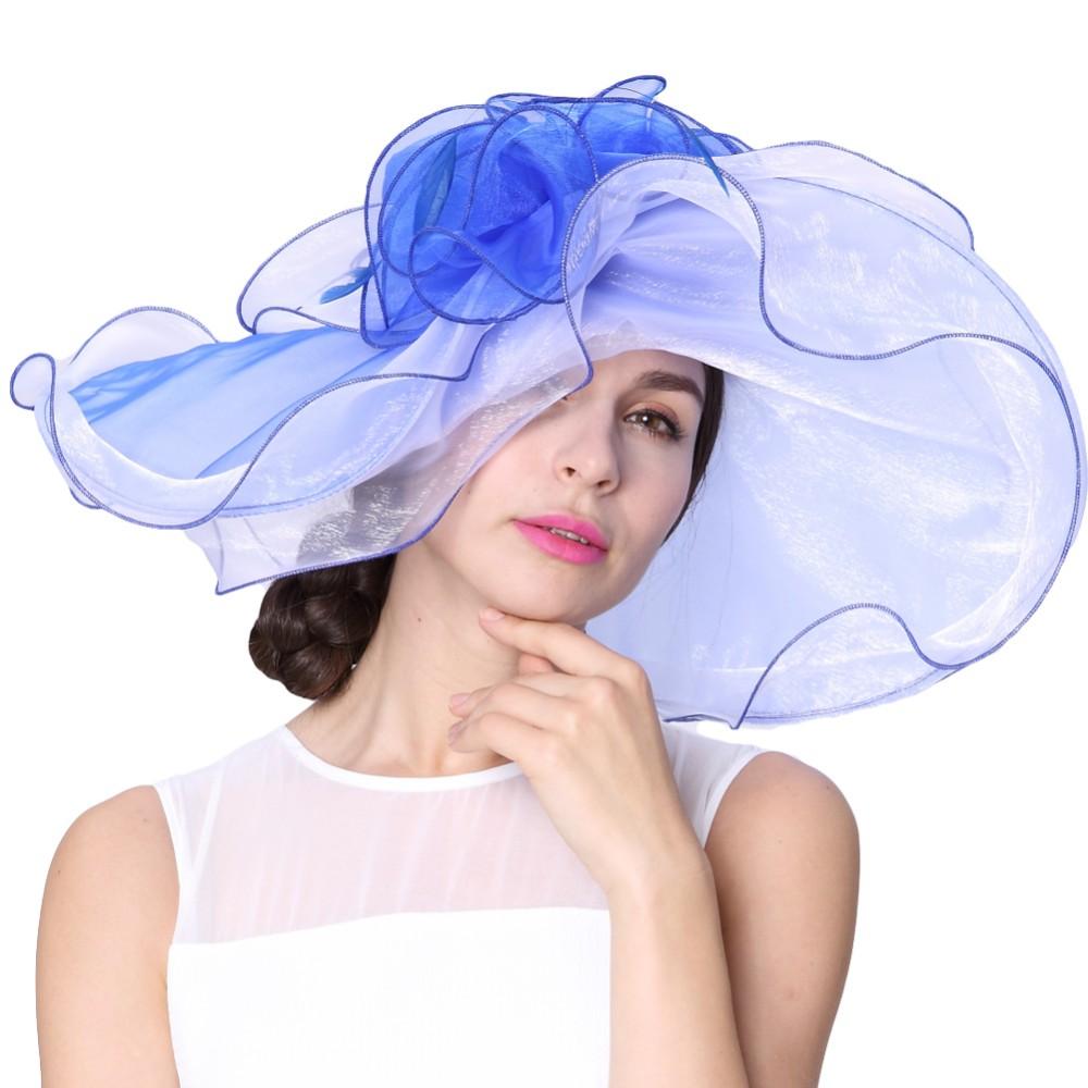 a303dcac46b8e Free Shipping Fashion Elegant New Hat Organza Hat Church Hat Summer ...