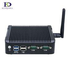 Kingdel New Style Fanless mini pc quad core N3160 nettop pc with 2*HDMI DP USB3.0 Nuc Intel HD Graphics 400 windows 7 Linux