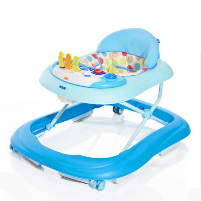 Hot Sale Children Baby Walker Multifunctional Music Plate U Type Folding Easy Anti Rollover Safety Andador Baby Walkers musical and flashing light baby walker cheap kids walker hot sale walkers