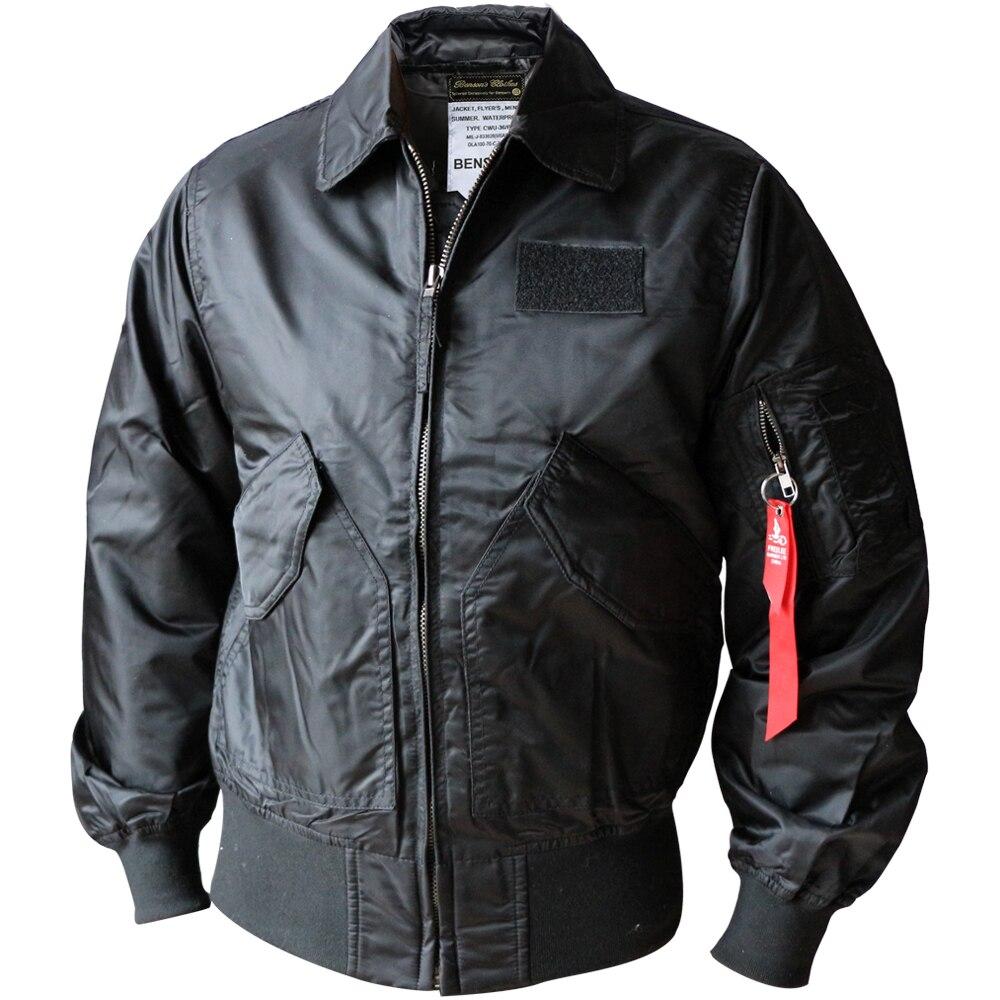 CWU-45P Bomber Jacket Men Patch Design Turn Collar Short Hip Hop Pilot Coat Man Short Streetwear Mens Jackets And Coats