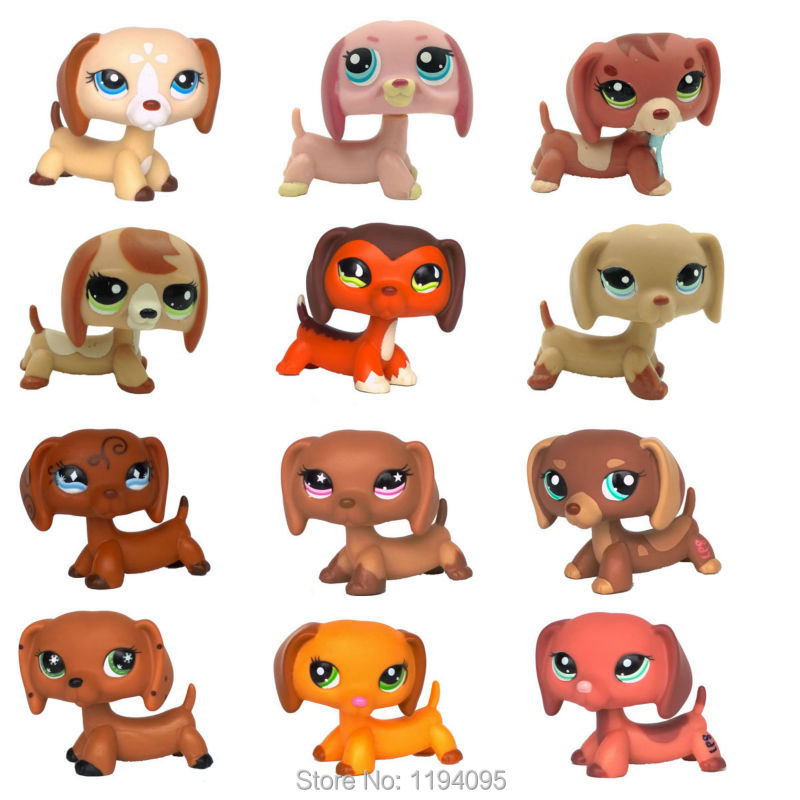 Old Styles LPS DACHSHUND Rare Dog animal pets toys