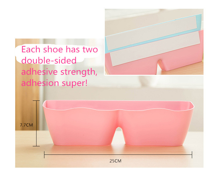 ba641914c Free shipping Hot sales Portable color Creative Adhesive Shoes Rack Wall  Hanging Shoes Organizer Hanger Hook Shoes Storage-in Shoe Racks & Organizers  from ...