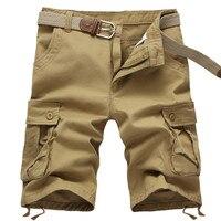 2017 NEW Summer Men S Baggy Multi Pocket Military Zipper Cargo Shorts Breeches Male Long Army