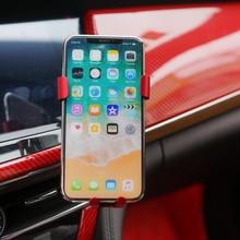 Для Cadillac CT6- автомобильный адаптер вращения держатель для мобильного телефона держатель для смартфона вентиляционное отверстие подставка крепление