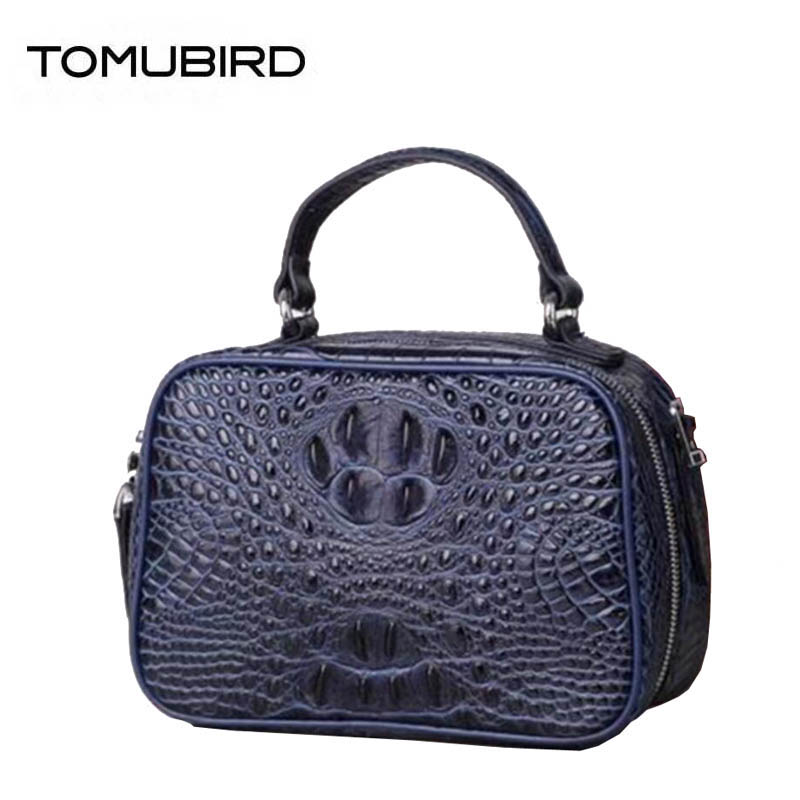 2018 New superior women Genuine Leather bags Crocodile pattern cowhide handbags women famous brands fashion small bag fashion style women crocodile pattern doctor women backpack famous bags women s pu leather rucksack bag z762