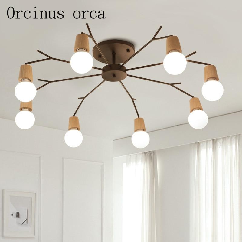 LED lustr obývací pokoj nordické osobní atmosférické osvětlení moderní minimalistická ložnice lampa osvětlení restaurace