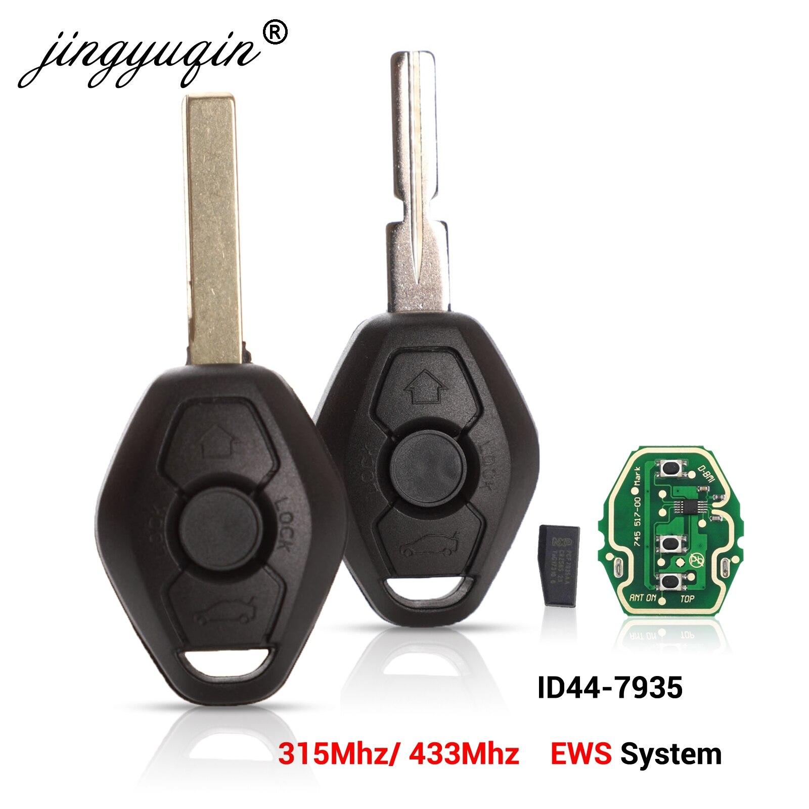 Jingyuqin ews sytem chave remota do carro para bmw e38 e39 e46 x3 x5 z3 z4 1/3/5/7 série 315/433 mhz id44 chip keyless transmissor de entrada