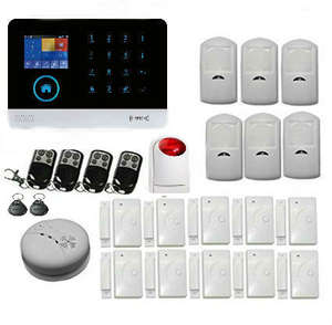 Kit Alarm-System Keyboard Smoke-Detector RFID Burglar WIFI GSM Security Home Wireless