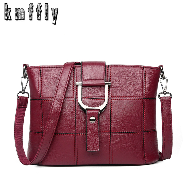 9fde6f4293 2018 Autumn Plaid Women Messenger Bags Small Crossbody Bags For Women  Designer Famous Brand Leather Handbags Sac A Main Femme