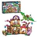 Elfos Lugar Secreto de crianza actividad de educación bloques de construcción del año nuevo juguetes de niñas y niños compatible lepin