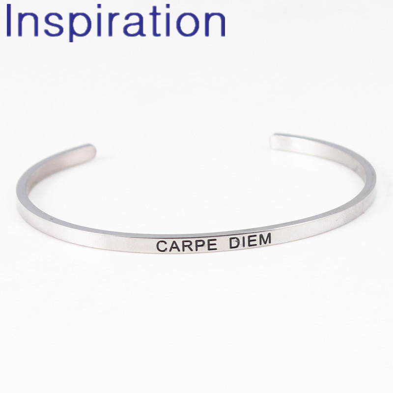 Forever Memories Engraved Hinged Cuff Bangle Bracelet Put Your Faith in Jesus