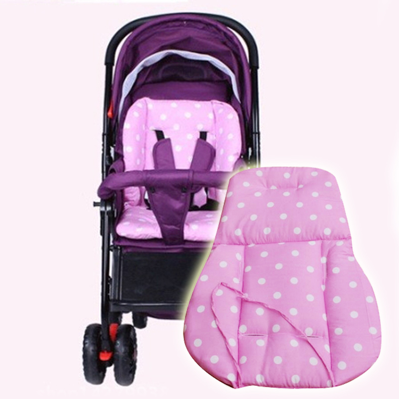 baby stroller pad car seat cushion mattress chair pad infant kids thickness dot print child cart. Black Bedroom Furniture Sets. Home Design Ideas