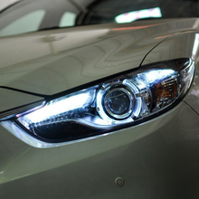 Car Styling for Mazda 6 Headlights 2014-2016 New Mazda6 Atenza LED Headlight Original DRL Bi Xenon Lens High Low Beam Parking