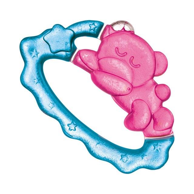 Прорезыватель Canpol водный охлаждающий - спящий медвежонок, 0+, цвет: розовый