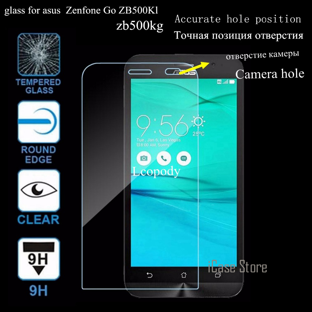 9H Screen protector tempered glass For <font><b>asus</b></font> <font><b>zenfone</b></font> GO ZB500KL ZB500KG ZB <font><b>500</b></font> <font><b>KL</b></font> KG 500KL 500KG ZB500 phone case cover image
