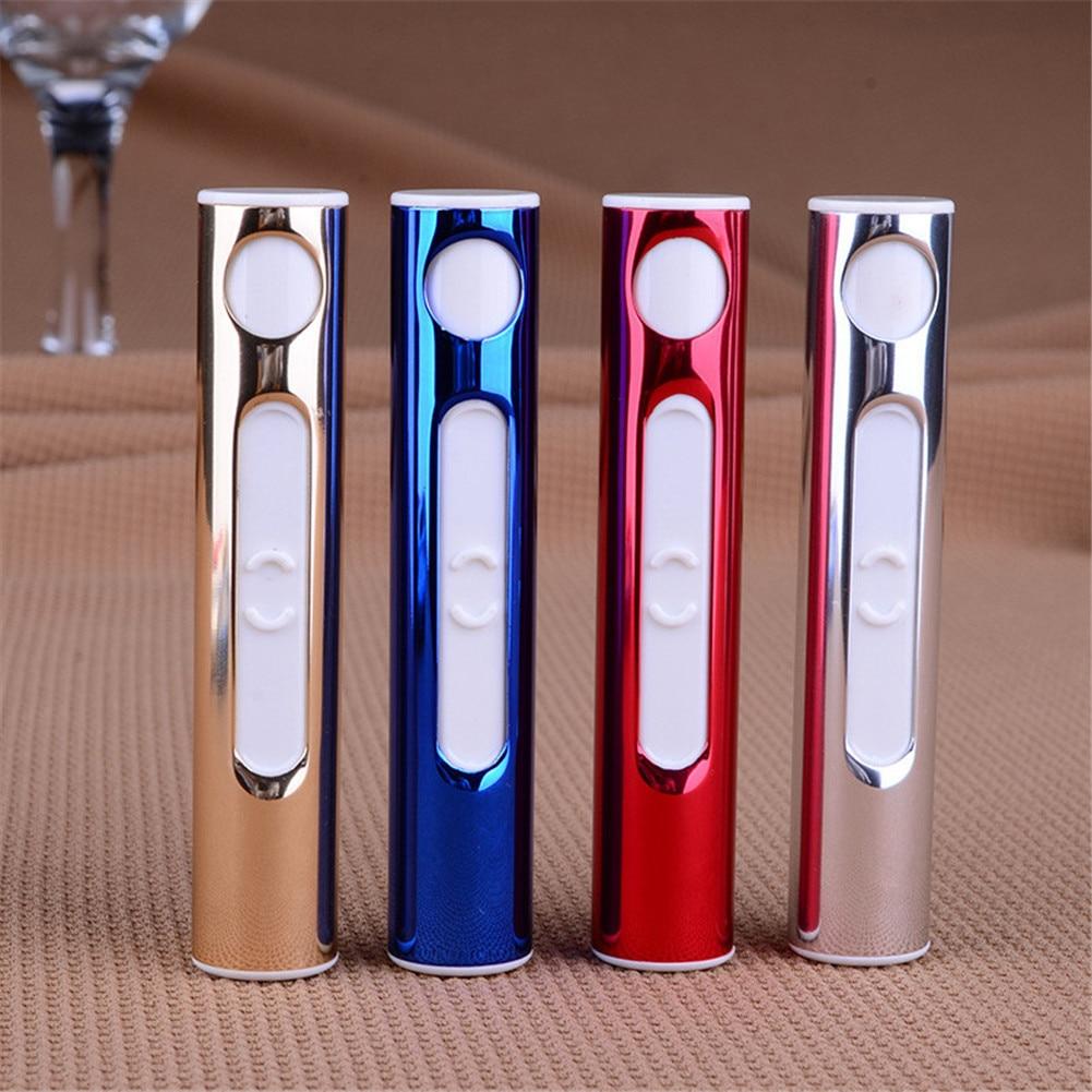 Mini Briquet Électrique Briquet d'Anti-vent Rechargeable USB en forme de la cigarette