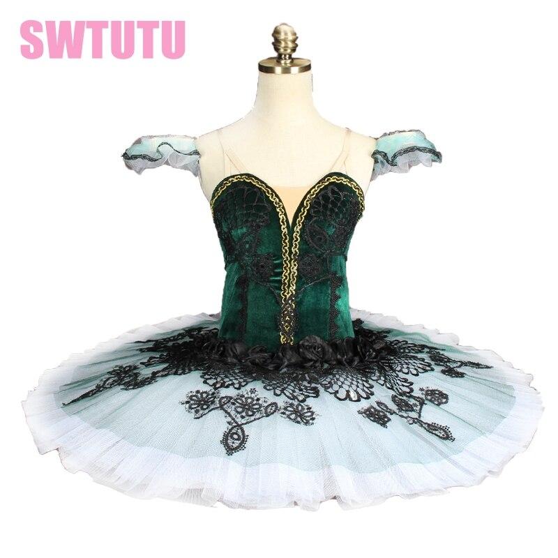 adult Velvet Green Don Quixote ballet professional tutu Emerald Pancake Tutu Costume Ballet YAGP Classic Ballet Tutu BT9144