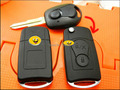 HK Post Fast Shipping For Ssangyong Modified Folding Flip Remote Key Shell 2 Buttons For Actyon/Suc Kyron/Rexton