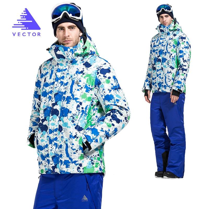 VECTOR Winter Ski Suit Se Men Windproof Waterproof Ski Jacket and Pants Warm Winter Outdoor Snow