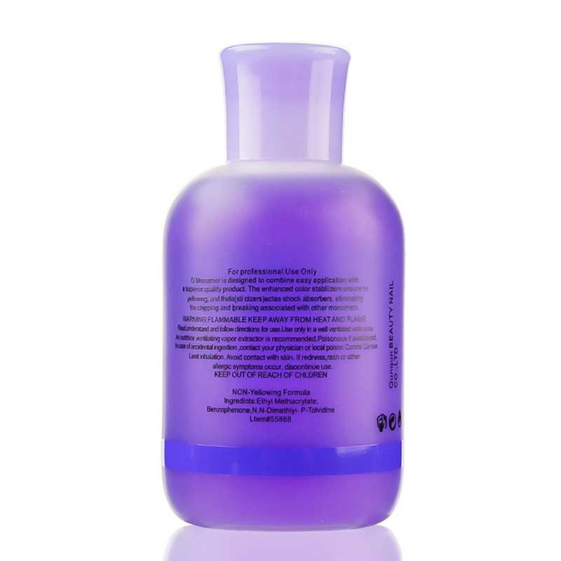 150 ml professionnel vernis à ongles monomère acrylique ongles liquide cristal liquide violet beauté liquide