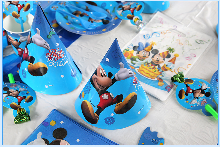 82pcs Mickey Mouse Kids Birthday Party Decoration Supplies Disposable Party Tableware Tablecloth Plates Cups Baby Shower Favors in Disposable Party Tableware from Home Garden