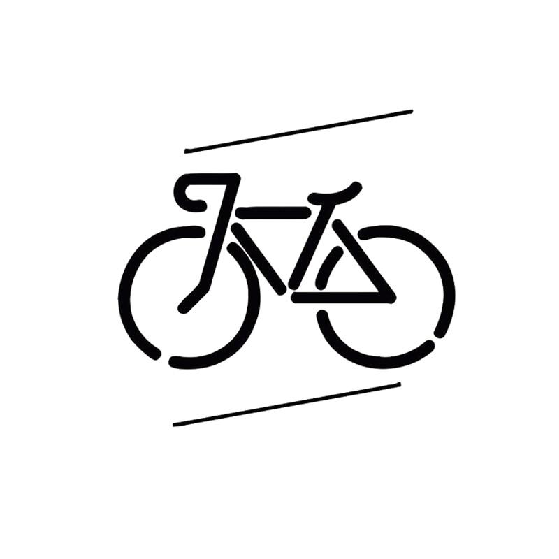 12.8CM*12.1CM Fashion Bicycle Vinyl Car Sticker Black