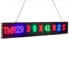 חדש 82cm P5 RGB סימן מלא צבע SMD2121 רכב LED תצוגת לוח מקורה זמן ספירה לאחור גלילה טקסט הודעה פרסום מסך