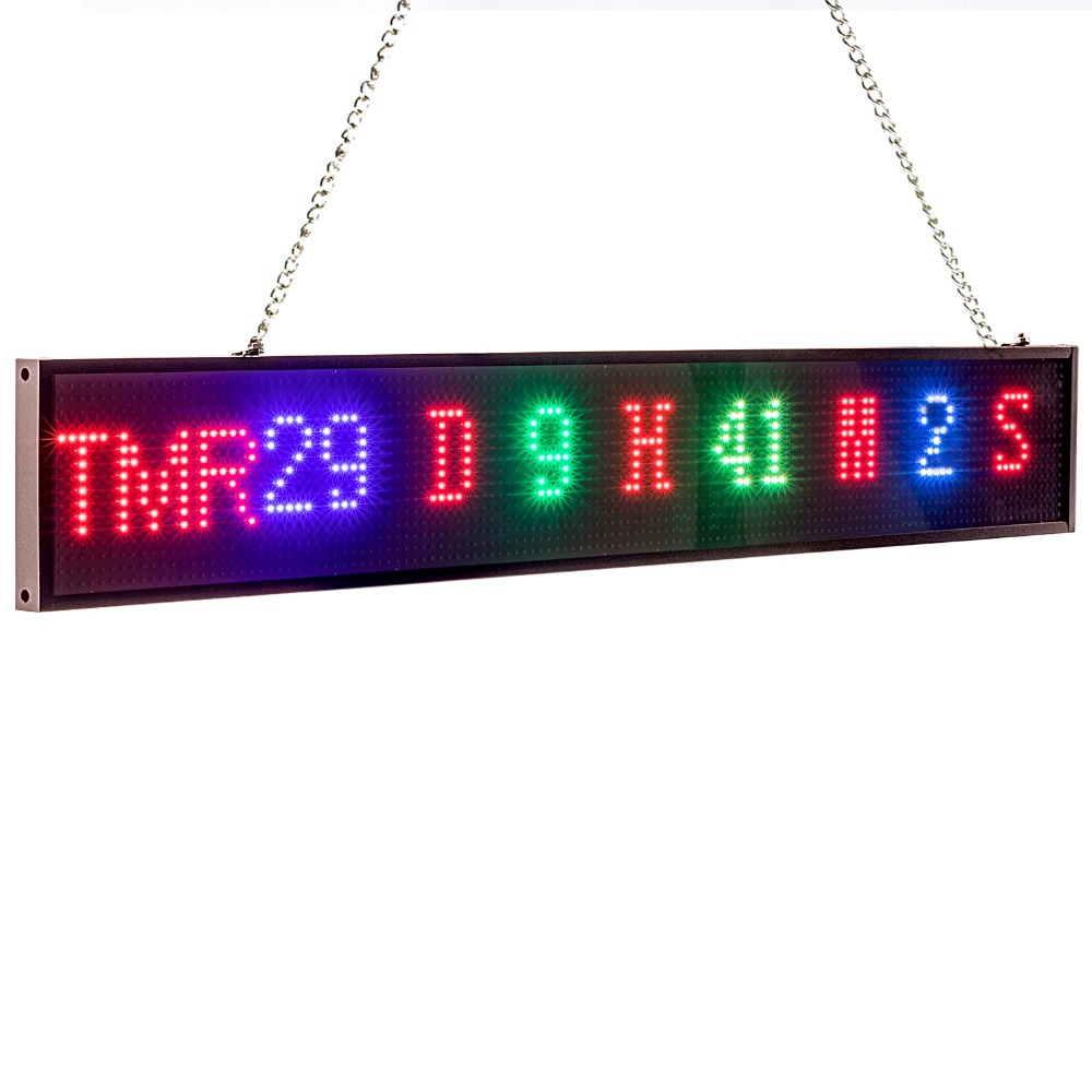 New 82cm P5 RGB Sign Full Color SMD2121 Car LED Display Board Indoor Time Countdown Scrolling Text Message Advertising Screen