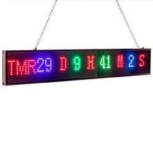 Nouveau 82cm P5 RGB signe polychrome SMD2121 écran LED de voiture panneau intérieur temps compte à rebours défilement texte Message publicité écran