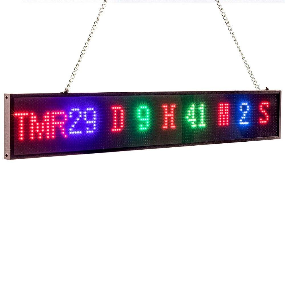 Nuevo 82 cm P5 RGB señal color SMD2121 coche pantalla LED de interior cuenta atrás desplazamiento mensaje de texto de publicidad pantalla