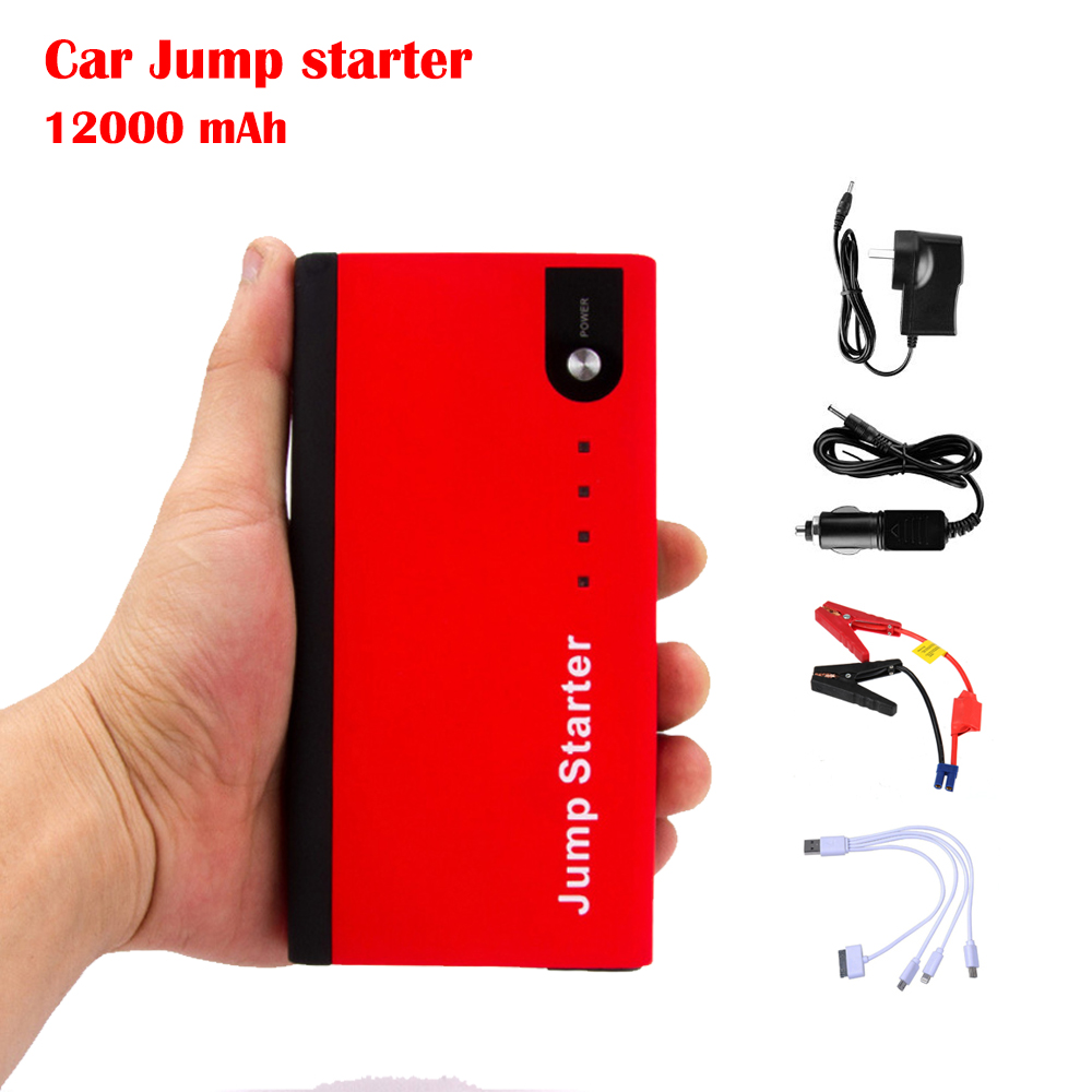 12000mAh Portable Car Jump Starter Multi-Function Mini Mobile Power Bank Charger with LED Torch for Phones Tablet CS011