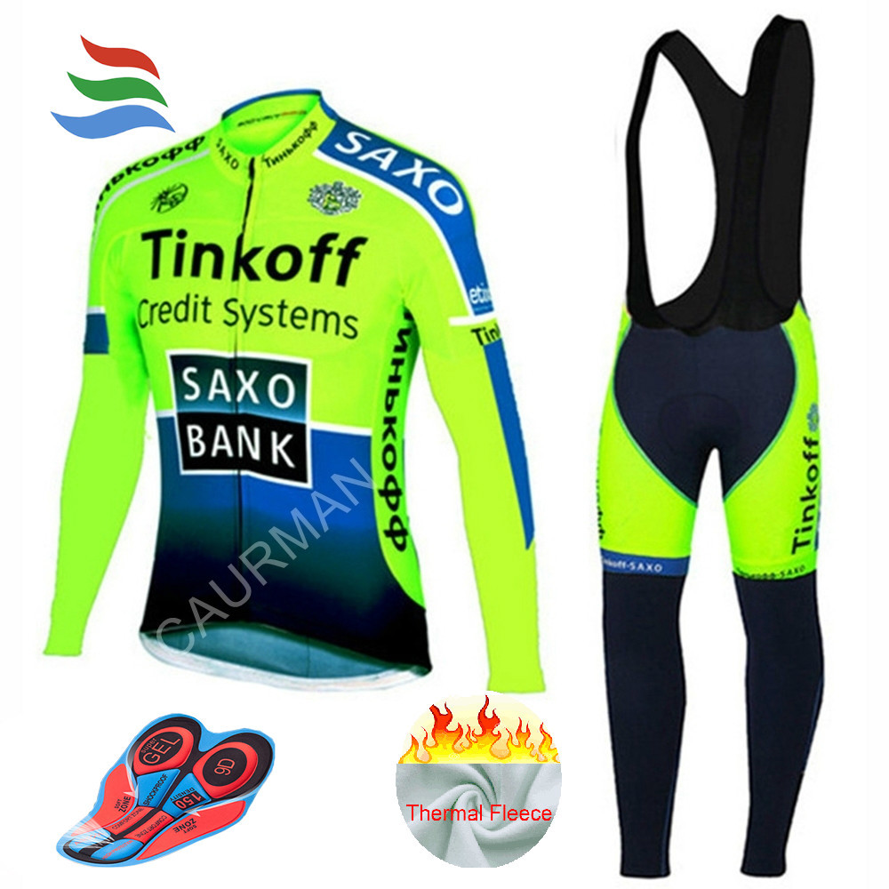 Pro Team Winter Cycling Jersey Long Thermal Sports Jersey Bib MTB Cycling Clothing Ropa Ciclismo Bike Clothes