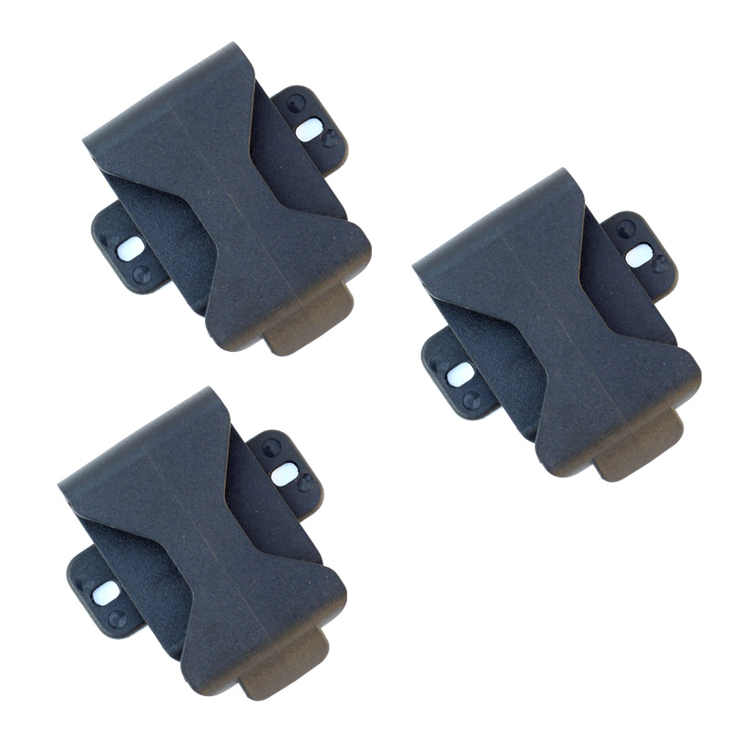 3PCS QingGear Belt Loops Belt Clip For DIY Knife Kydex Sheath Holster With Screw Knife Parts 360 Degree Rotation
