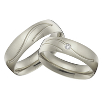 alliance anillos anel aneis femininos custom titanium jewelry white gold color wedding bands rings sets