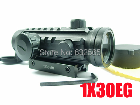 Tactical 1x30EG Dot Sight Range Finder Rifle Scope Hunting Scope Outdoor Products Airsoft Riflescope Optical Red Dot Sights hunting tactical scope optical rifle scope 2 20 red green dot sights outdoor optics airsoft riflescope air guns rifle scope