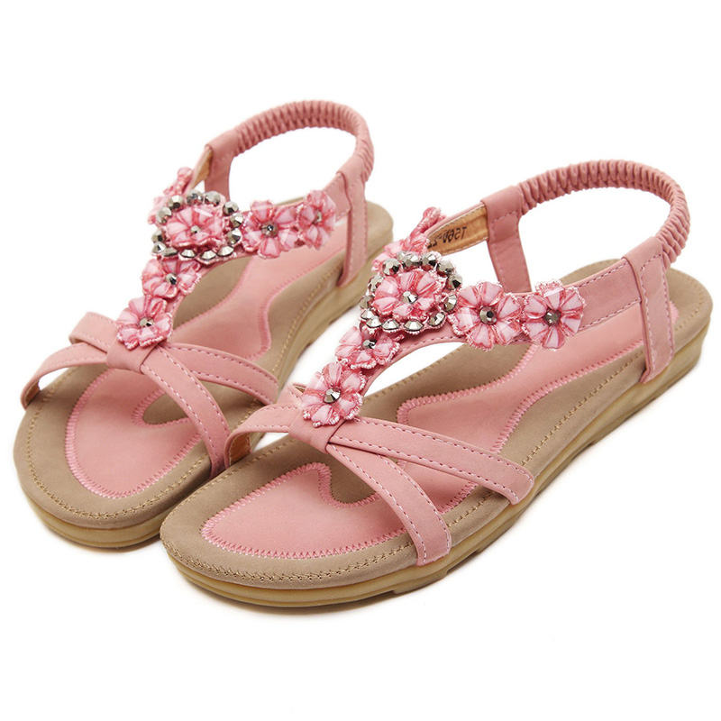 Summer Shoes Women Sandals Fashion Bohemian Flip Flops Women Shoes 2019 New Flower Slip-On Beach Shoes Women Flat SandalsSummer Shoes Women Sandals Fashion Bohemian Flip Flops Women Shoes 2019 New Flower Slip-On Beach Shoes Women Flat Sandals
