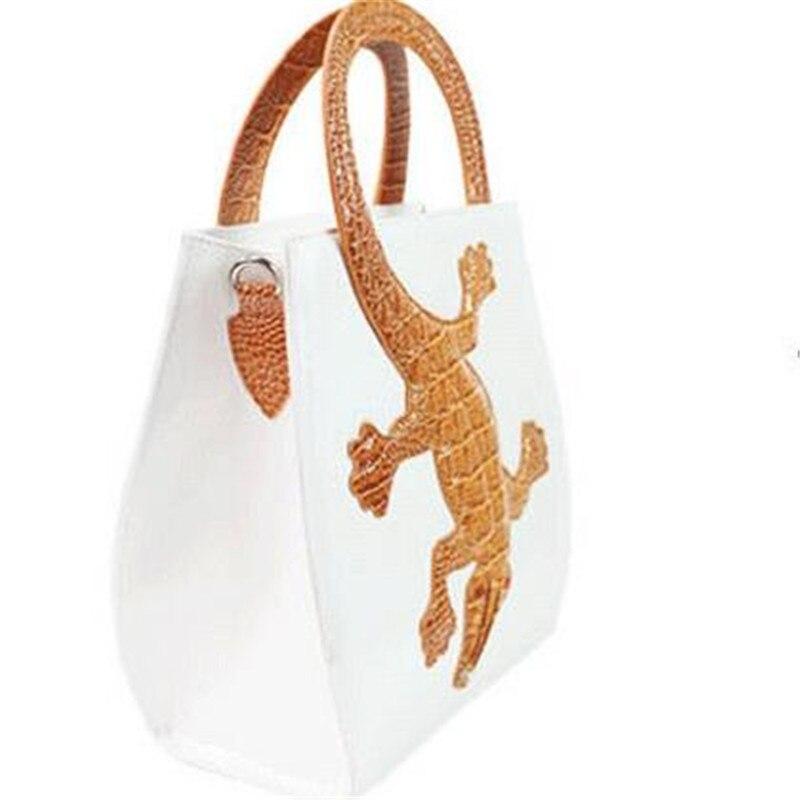 Mode Sacs D'épaule Simple Crocodile En Main Black Fourre tout white Blanc Noir Dames Designer Sac Luxe Cuir À De Femmes 44WS6Bqa