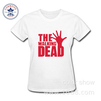 2017 Newest Fashion Funny The Walking Dead Loose Cotton Funny T Shirt Women