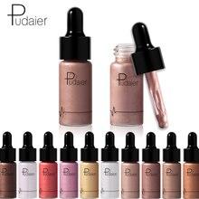 Pudaier Brand Facial Lips Highlight Face Bright Liquid Shimmer Liquid Bronzers Highlighter Face Contour Foundation Makeup