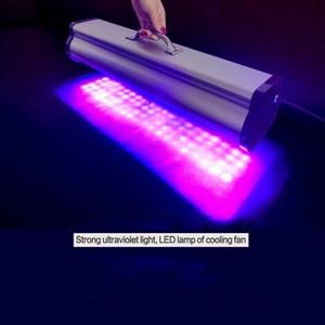 Image 5 - 400W LED taşınabilir UV kolloid kür lambası baskı kafası mürekkep püskürtmeli fotoğraf yazıcı kür 395nm cob UV led lamba