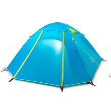 NatureHike 3 Person Camping Tent Double Layers Aluminum Rod 3 Season Outdoor Hiking Travel Play Tent Rainproof