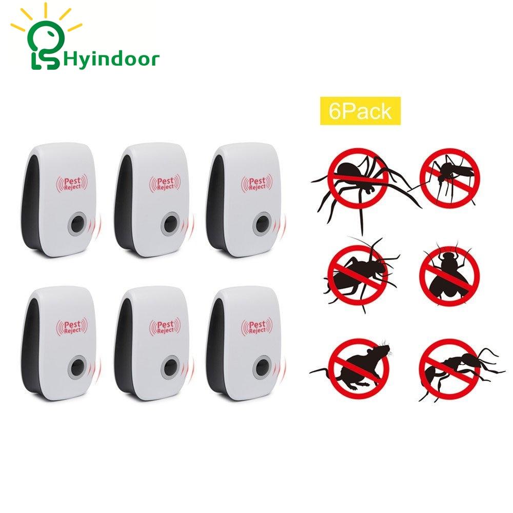 Pest Control 6PCS Pests Rejest Electronic Ultrasound Anti Bug Repeller Rat Mosquito Killer Bug