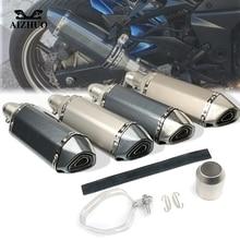 цена на Motorcycle Exhaust pipe Muffler Escape DB-killer 36MM-51MM FOR DUCATI HYPERMOTARD 796 MONSTER S2R 800 ST4S 821 797 MONSTER