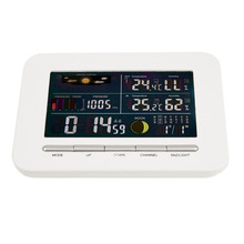 Cheaper Professional Wireless Weather Station Indoor/Outdoor Thermometer Hygrometer Temperature Humidity Colorful Display Alarm Clock