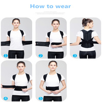 Posture Corrector Effective Comfortable Adjustable Posture Correct Brace Posture Brace Clavicle Support Upper Back Pain Relief